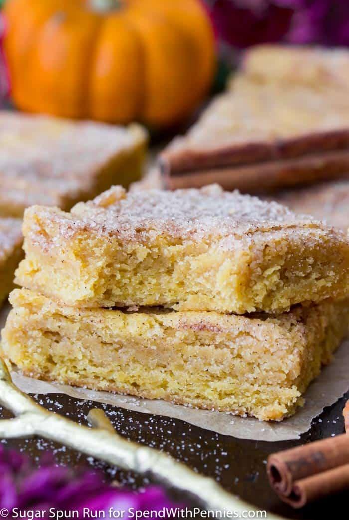 Pumpkin Blondies Recipe