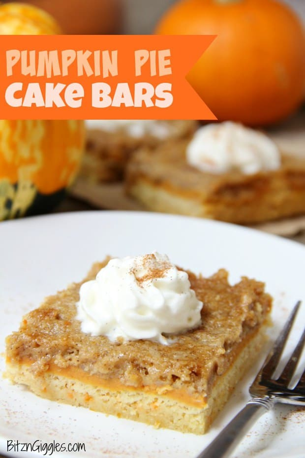 Pumpkin Pie Cake Bars -- Part of our Old Fashioned Layered Pies Just like your Grandma made
