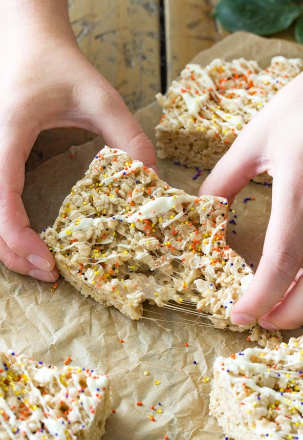Pumpkin Spice Rice Krispie Treats Recipe