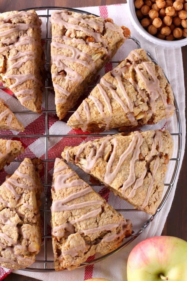 Spice Glazed Caramel Apple Scones - The Best Blog Recipes