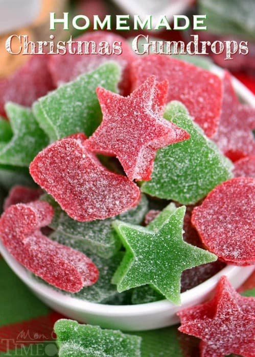TheseHomemade Gumdropsare the perfect treat to make for friends and family during the holidays! Made with just a handful of ingredients –including applesauce– these gumdrops are sure to become a holiday tradition! A Christmas favorite with our family!