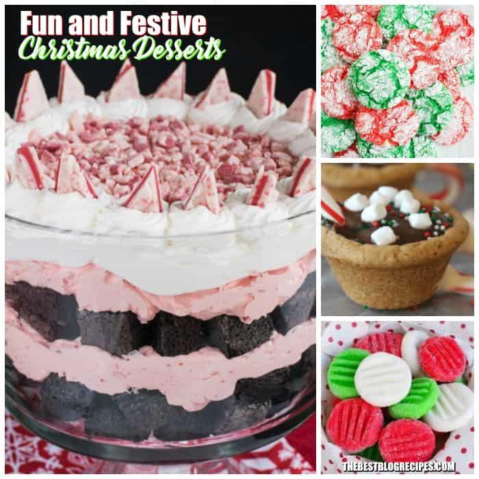 fun and festive christmas desserts