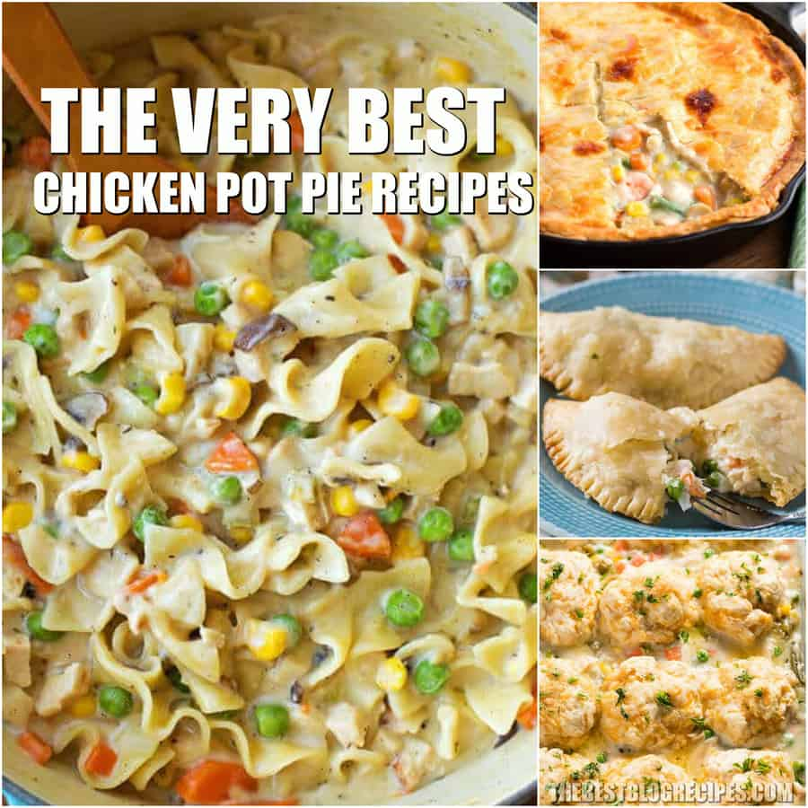 Chicken Pot Pie Recipes are going to be new favorites among your friends and family. The savory, warm, flaky recipes in this list are almost too good to be true.