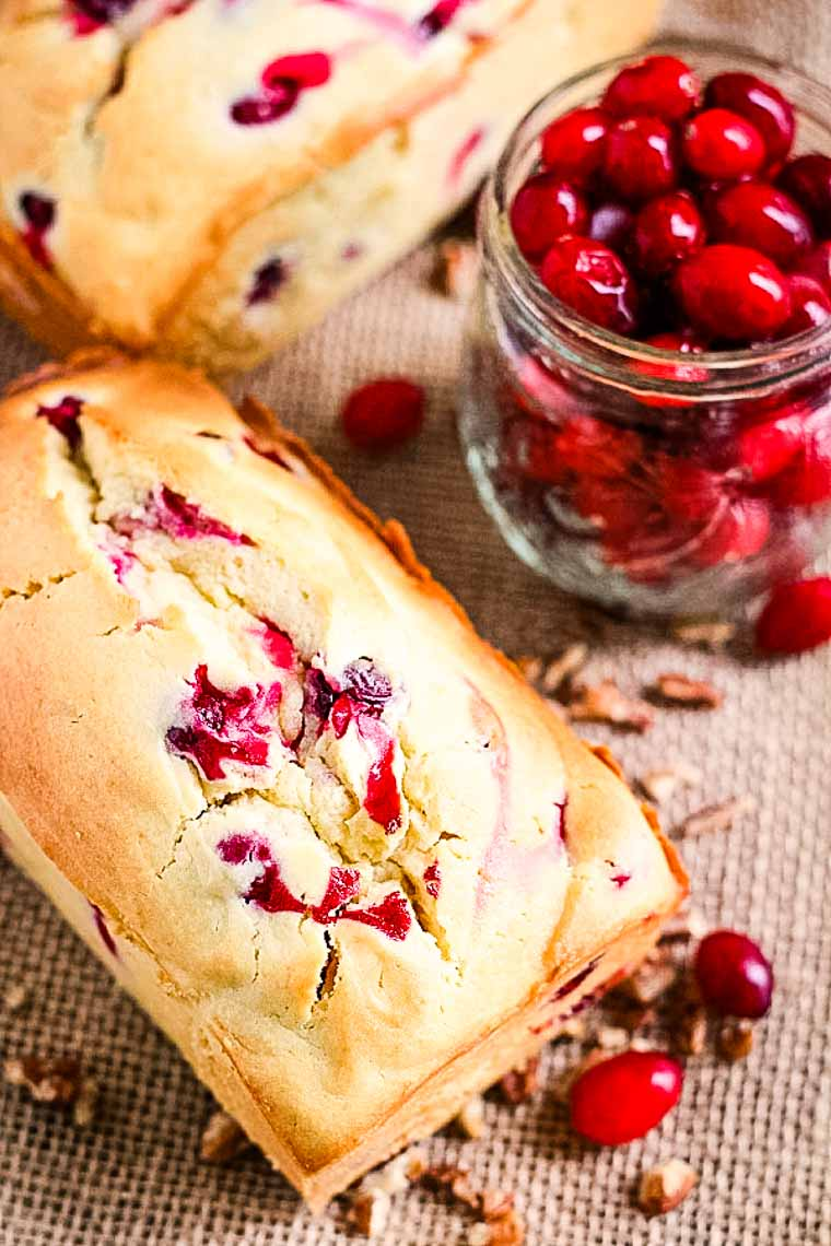 CREAM CHEESE CRANBERRY BREAD | 20+ Easy Christmas Dessert Recipes | The Best Blog Recipes