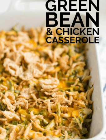 Cheesy Green Bean and Chicken Casserole