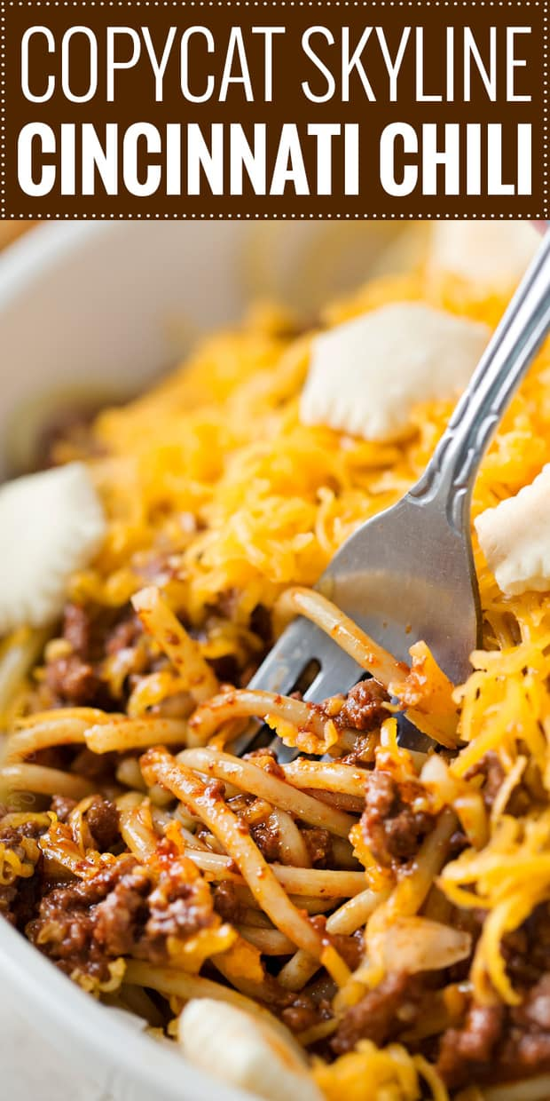 Have you ever had Cincinnati chili?  It's totally unique, and NOT like a traditional chili, but it's an absolutely delicacy here in the Midwest.  It's also really easy to make at home, freezes wonderfully, and can be served in so many ways!