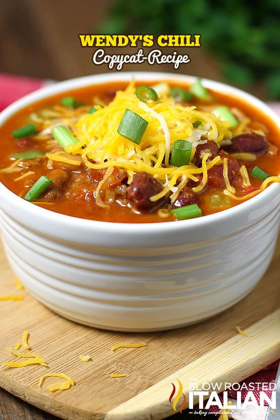 Wendy's Copycat Chili Recipe -- Part of our Old Fashioned Chili Recipe just like your grandma made!