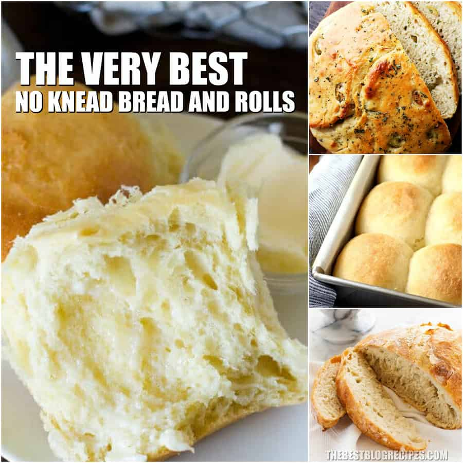 No Knead Bread and Roll Recipes make the best dinner, side dish, or appetizer. Perfect for when you want to serve up something hot and delicious but don't feel like spending all day long in the kitchen!