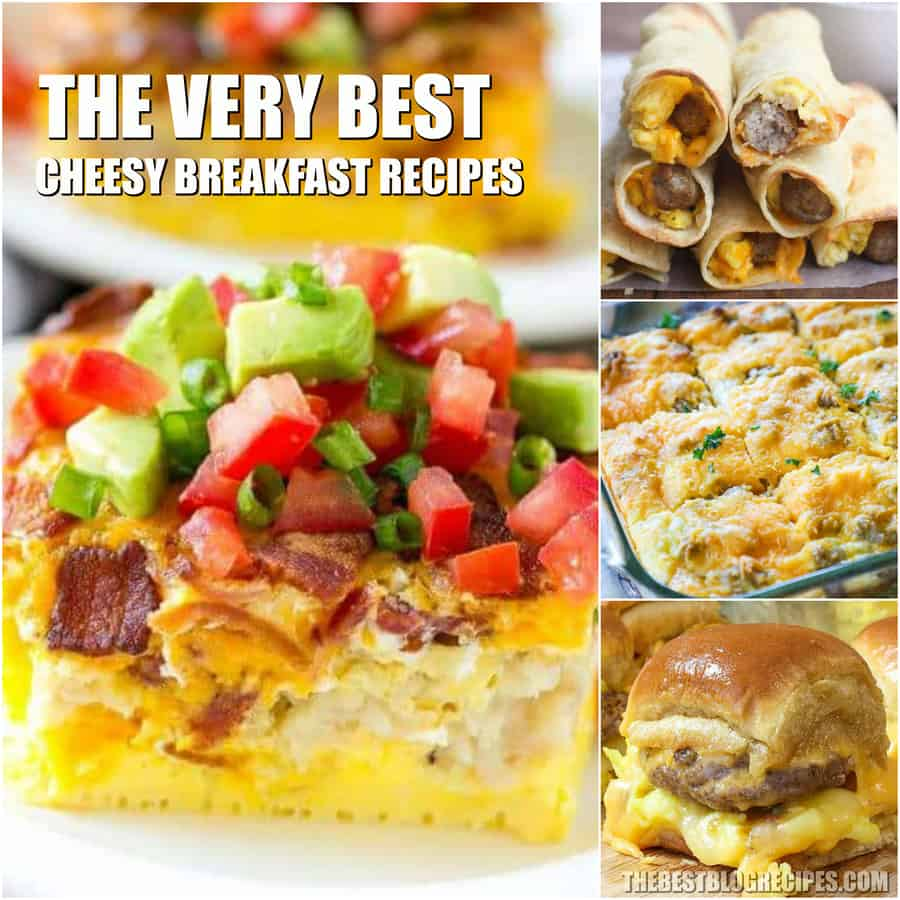 Cheesy Breakfast Recipes PERFECT for Saturday Mornings have all of your favorite things... bacon, eggs, sausage, and your favorite -- ooey gooey cheese!
