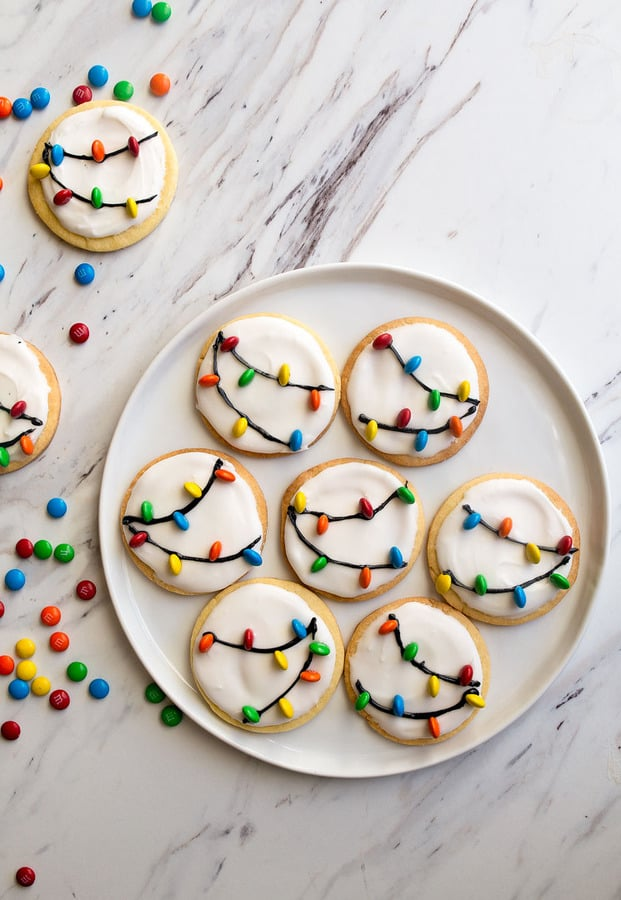 Christmas Lights Cookies | 20+ Easy Christmas Dessert Recipes | The Best Blog Recipes