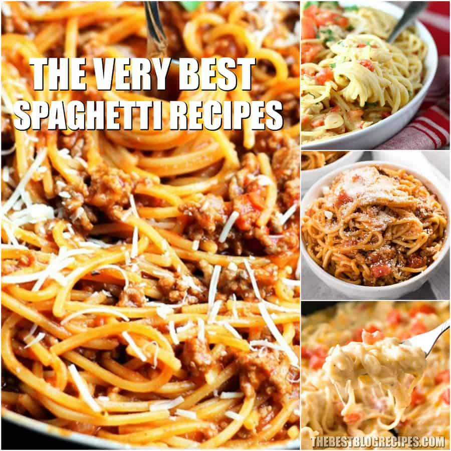 The Best Spaghetti Recipes are what is missing from your cookbook. You are going to go crazy for these twists on the  classic Spaghetti dinner we all know and love!