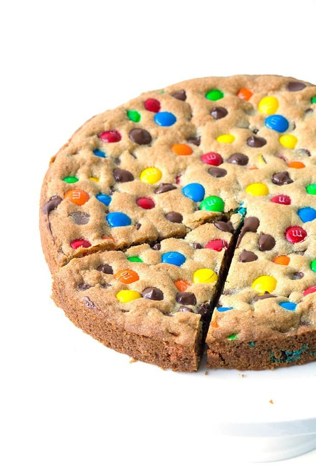 M&M Candy Cookie Pie-- Part of M&M Monster Dessert Recipes that your kids will love!