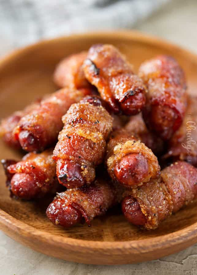BROWN SUGAR BACON WRAPPED SMOKIES
