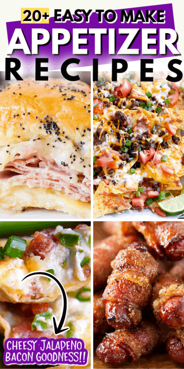 20+ EASY TO MAKE APPETIZER RECIPES
