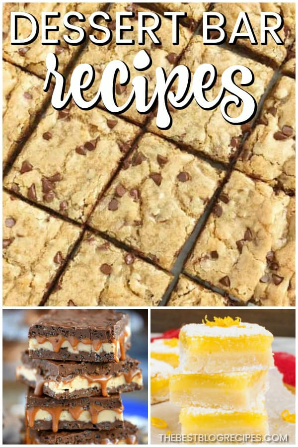 Need a cure for your sweet tooth? Try Dessert Bar Recipes! These bars are the most decadent, sweet, and addicting desserts! One bite of any of these recipes and you will be hooked!
