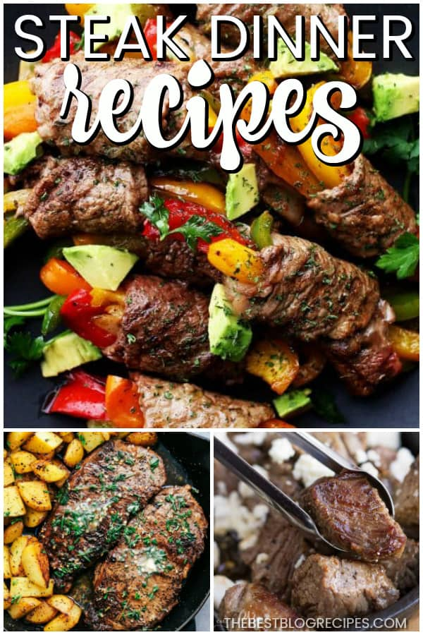 The Best Steak Recipes are juicy, and loaded full of flavor that your friends and family will love! From simple dinners, to beautiful filet mignon, this list has something for everyone!