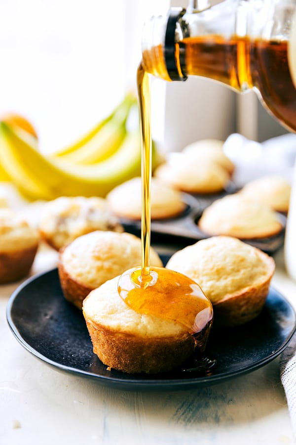 "Sausage Pancake Muffins are perfectly moist and tender pancake muffins filled with sausage and drizzled in maple syrup creating the perfect on the go breakfast!  <div class=""su-divider su-divider-style-default"" style=""margin:15px 0;border-width:0px;border-color:""#000000""""></div>"