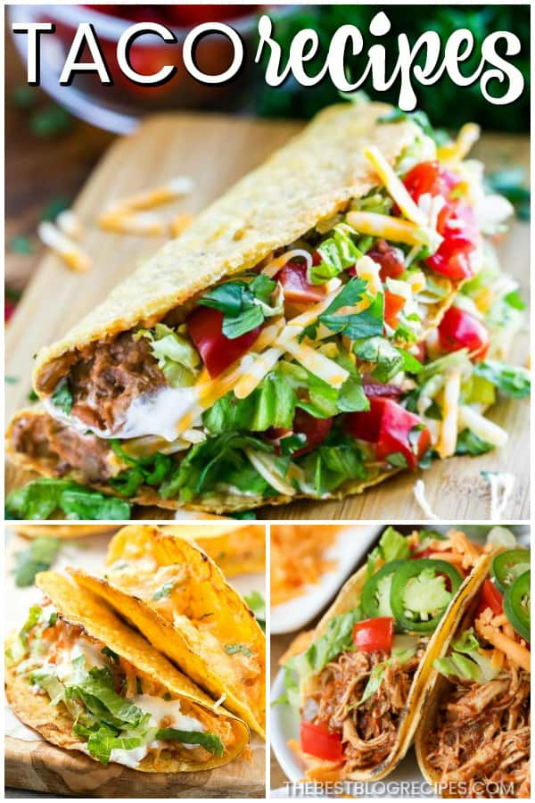 For this Taco Tuesday try out The Best Taco Recipes! Tacos are flavorful, delicious, and perfect for an easy to make family dinner! For reals, who doesn't love a good taco. Get ready to have a new favorite recipe to make for friends and family!