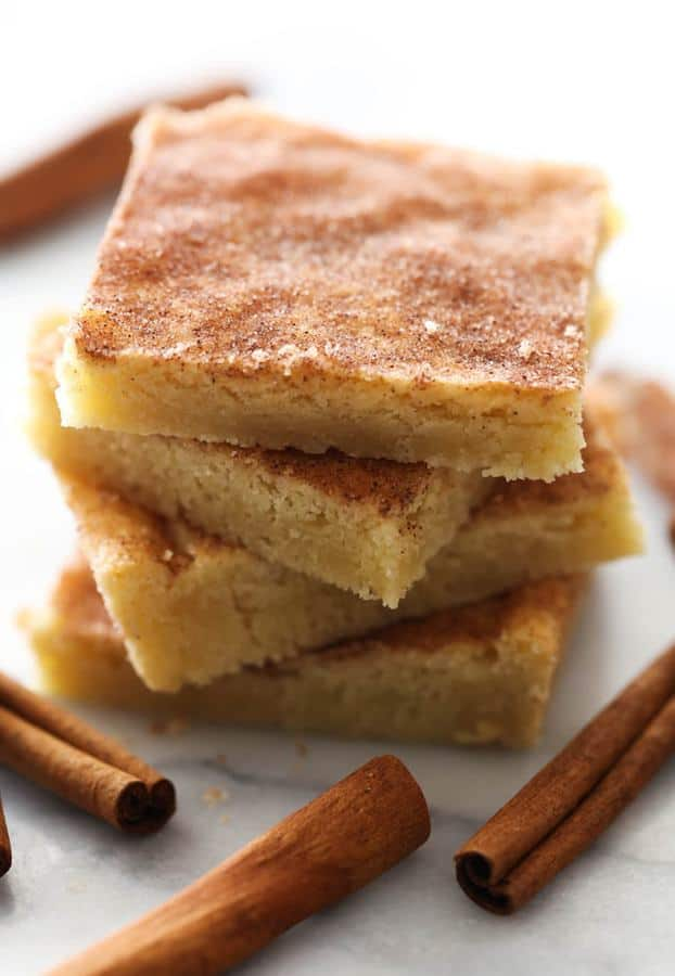 Snickerdoodle Cookie Bars are outstanding. Enjoy the delicious snickerdoodles in bar form, and know that this recipe will be one you will want to make over and over again!
