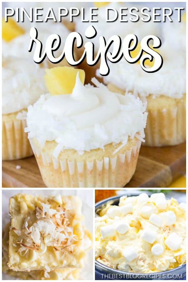 Even when the weather is cold, you need The Best Pineapple Dessert Recipes! Tropical pineapple flavor is a hit for any occasion no matter the season!