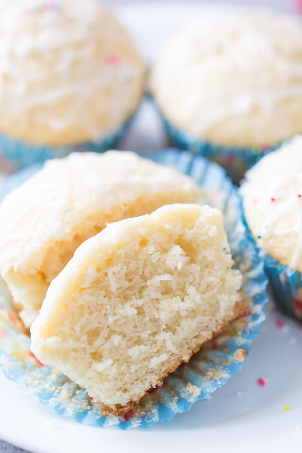 Soft and fluffy Sugar Cookie Muffins with Peppermint Mocha Glaze are so easy! They are perfect for the holidays and even for a quick on-the-go breakfast. These are the muffins you have always been searching for and need!