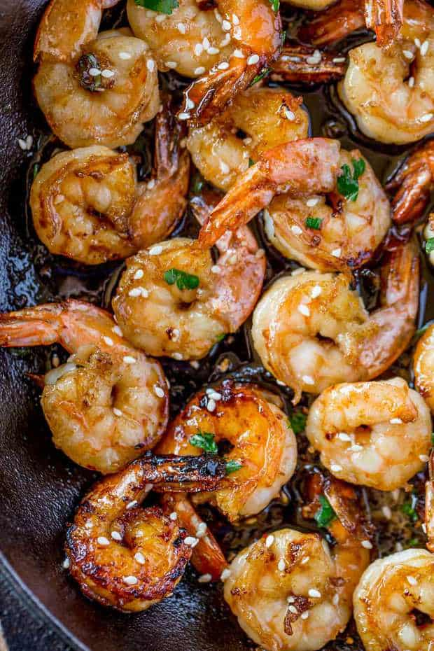 Easy Honey Garlic Shrimp Made In One Skillet With Just Five Ingredients In Just 10 Minutes, This Dish Will Replace Your Favorite Chinese Takeout Restaurant!