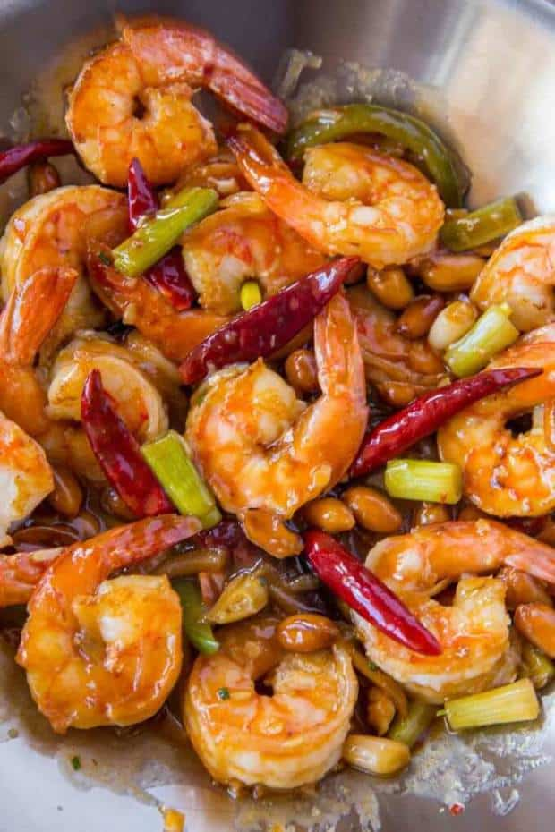 Kung Pao Shrimp Is A Chinese Food Restaurant Classic Spicy Garlic Stir Fry That's Healthy, Easy And Ready In Less Than 15 Minutes!