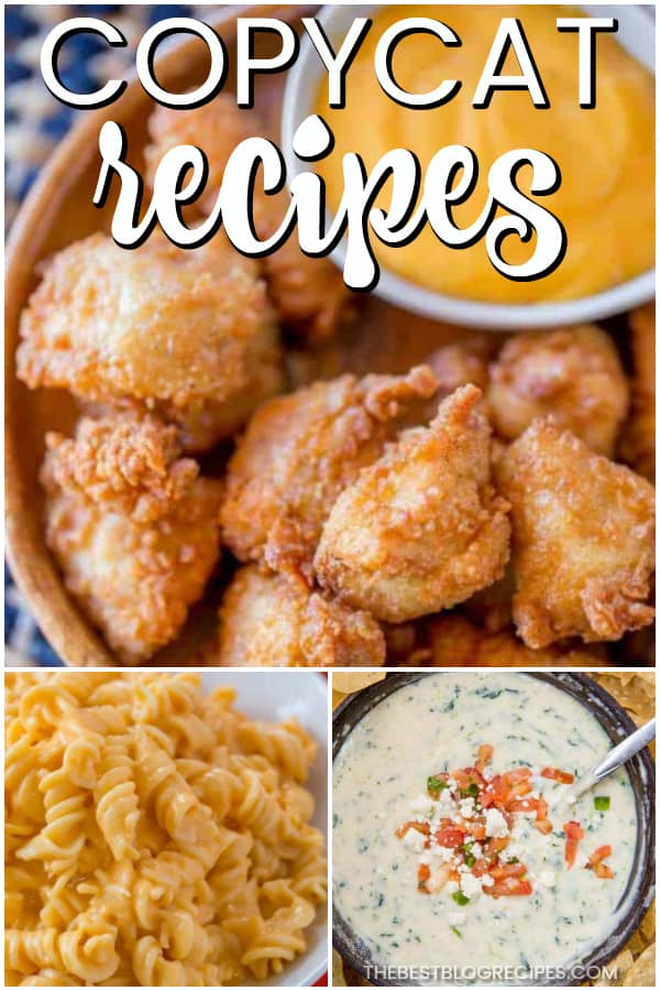 The Best Copycat Recipes are the recipes you need to complete your collection! The copycat recipes in this compilation are the best of the best and are sure to be hits among your friends and family.