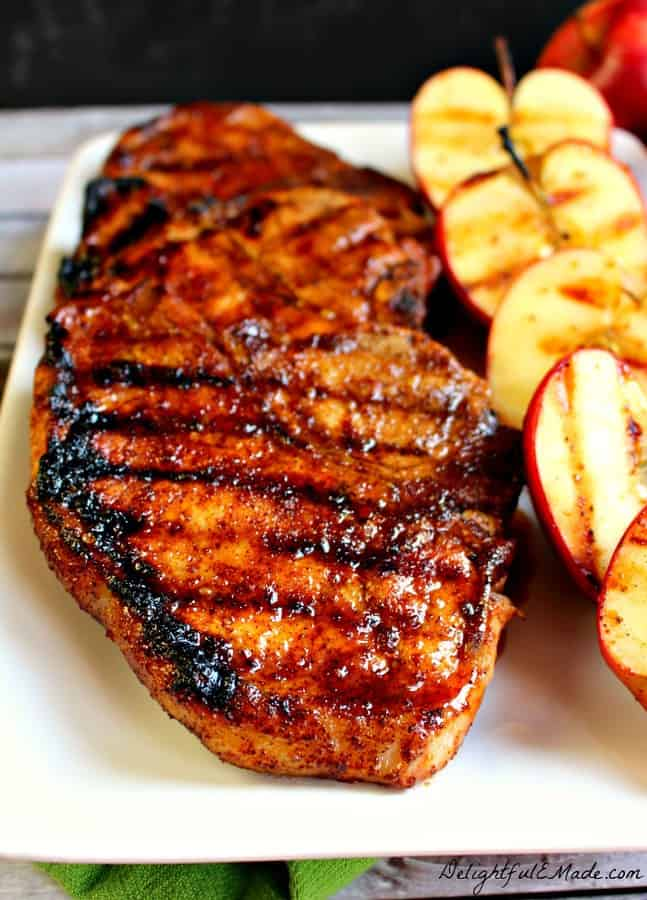 Apple Cider Glazed Pork Chops are fantastic for a great, easy-to-make family dinner. We love pork at our house, and I cook and grill with it often. Pork is healthy and lean, it's easy to cook, versatile, and best of all its really economical!