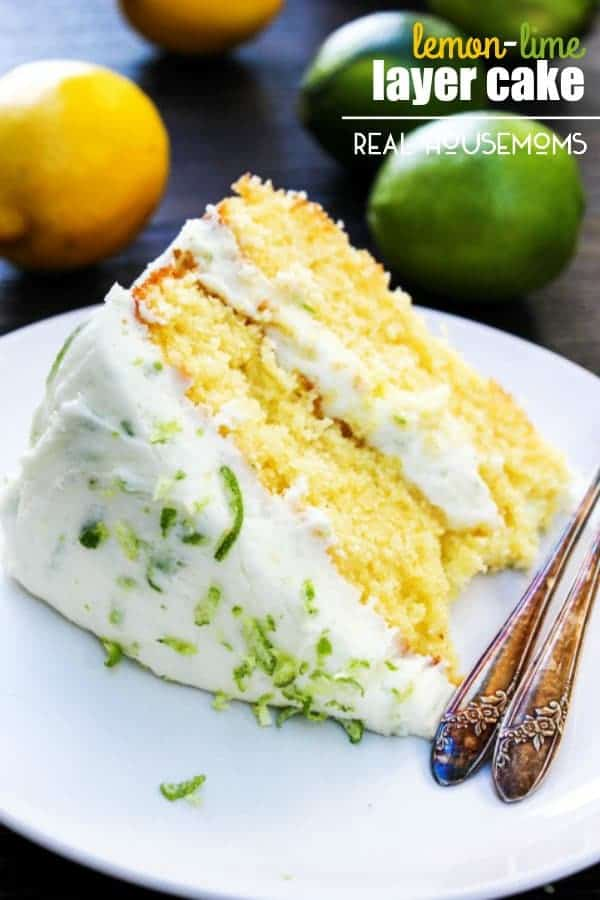 SPRING HAS COME EARLY WITH THIS LEMON-LIME LAYER CAKE – A BEAUTIFUL LAYER LEMON CAKE WITH LIME BUTTERCREAM!