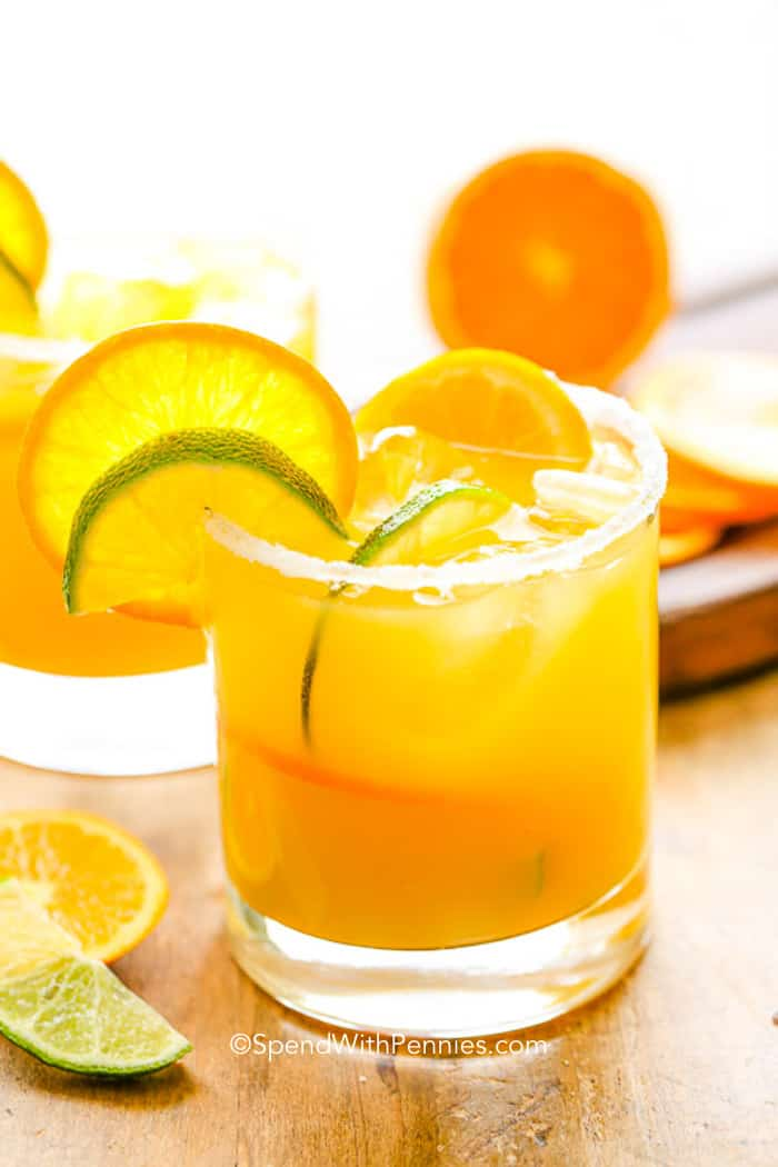 Using fresh lime juice (and orange juice if possible) only takes an extra 30 seconds and really sets this drink apart from the rest!  The perfect summer drink!