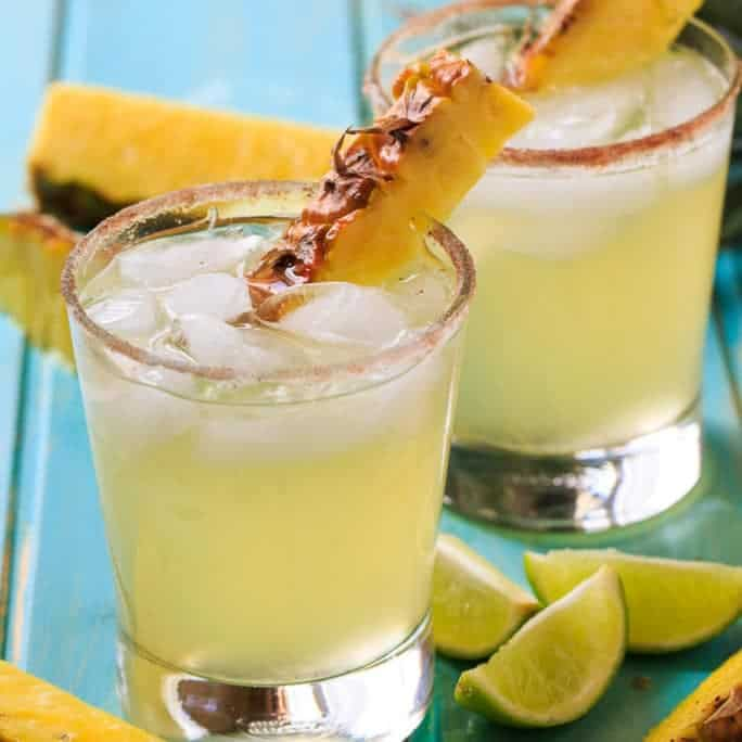 With their tropical flavor, these Pineapple-Cinnamon Margaritas will quench your thirst all summer long.
