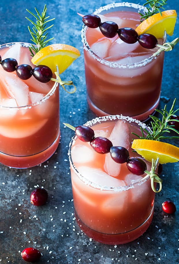 The classic margarita gets a festive twist in these Cranberry Orange Margaritas I'm sharing today.