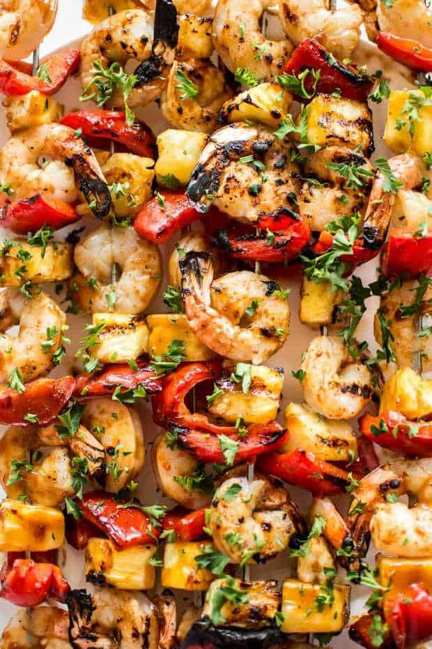 Thispineapple shrimp skewers recipeis tasty, healthy, vibrant, and perfect for easy summer dinners. You will love these Hawaiian shrimp skewers!