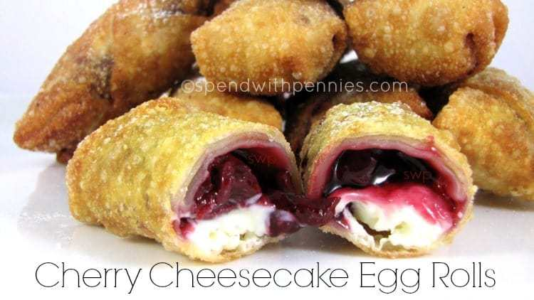 So many of you loved my Apple Pie Egg rolls… and some suggested using Cherry Pie filling. I've only ever really had cherry pie filling on cheese cake, and then I thought.. HEYYYY!!!! Why not??