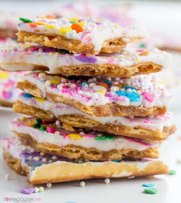 Fun and delicious for every age, this Unicorn Toffee is a quick, simple and super colorful! It is a great treat for everyone to enjoy!