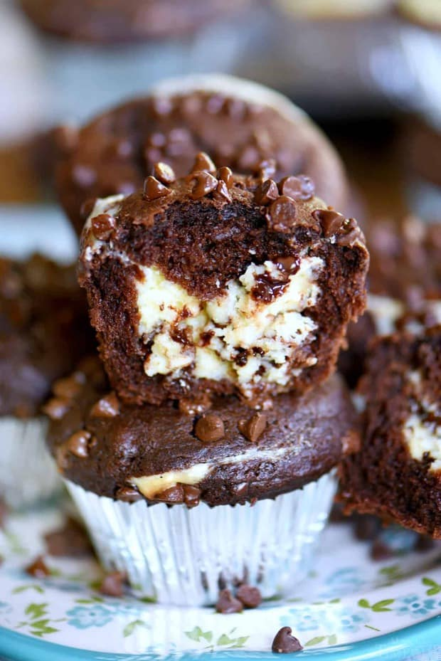 Breakfast has never been this decadent or delicious! Treat your family toCheesecake Chocolate Chip Muffinsthis weekend and make breakfast an event they won't soon forget. Decadent chocolate chip muffins stuffed with a creamy cheesecake filling are a chocolate lover's dream come true!