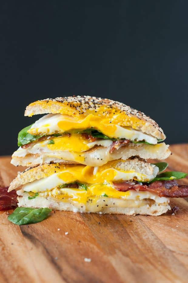 This Everything Bagel Grilled Cheese Breakfast Sandwich absolutely rocks our socks!It's the ultimate breakfast sandwich and we can't help but make them again and again.