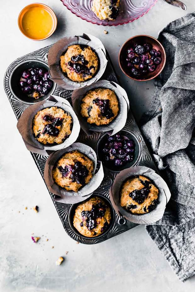 Easy to make, fluffy gluten free muffins, packed with antioxidant-rich blueberries.If you suffer from digestive issues, this low fodmap muffins recipe is going to be your favorite way to start a day!