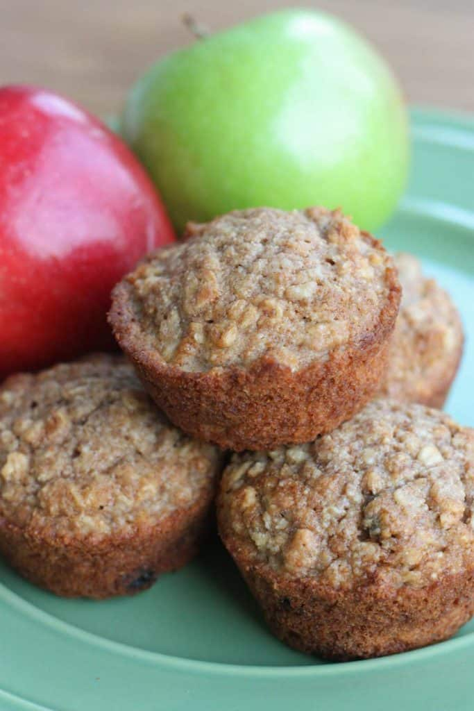 Easy and delicious Applesauce Oat Muffins. They make the perfect healthy snack and they're freezer-friendly, too!