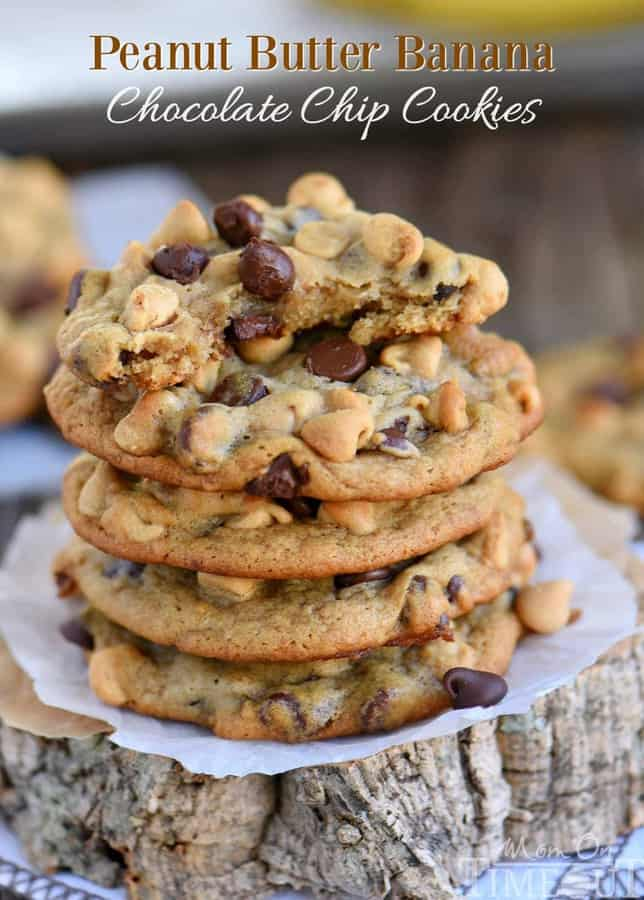 Got ripe bananas? These easyPeanut Butter Banana Chocolate Chip Cookiesare WAY more fun than making banana bread and so delicious too! Super soft and absolutely amazing!