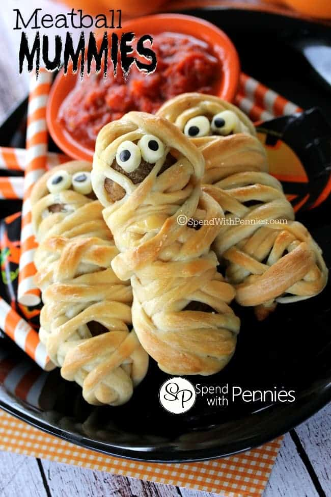 Meatball Mummies are a fun twist on the hot dog mummies we've all seen so many times!