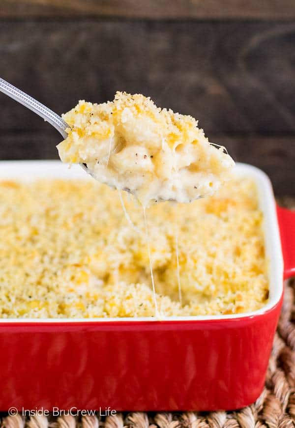 Three kinds of cheese make this Three Cheese Macaroni and Cheese a winner at the dinner table every single time.  The creamy macaroni and cheese recipe will have everyone licking their plate clean.
