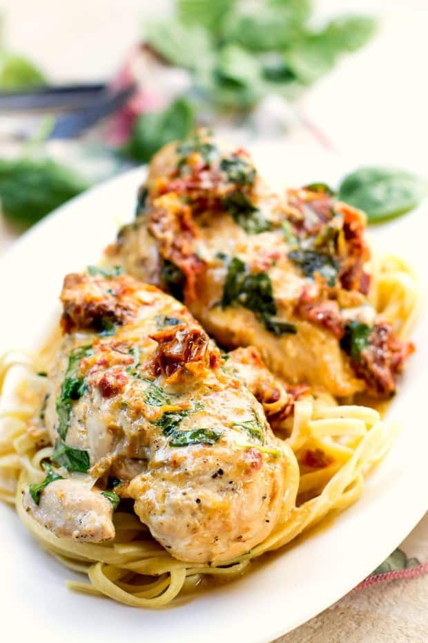 Crock Pot Tuscan Chicken, easy to make using your crock pot and delicious, it's what's for dinner…ENJOY!