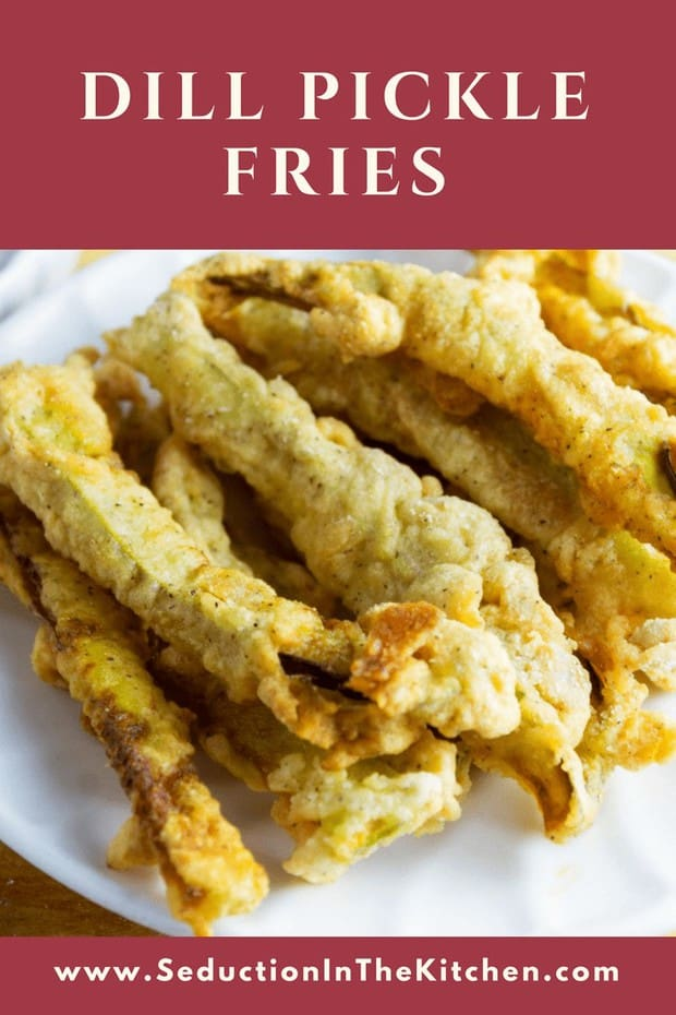 Dill Pickle Fries is simply a dill pickle that been cut into thin strips, battered, and deep-fried. These deep fried pickles are an amazing side dish. You will love these pickle fries!