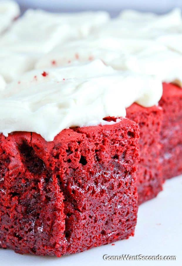 Amazing Red Velvet Brownies-dense, chewy with just the right amount of Red Velvet tang and chocolate!