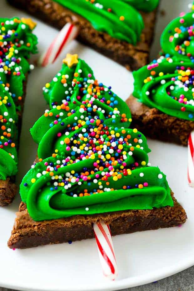 These Christmas tree brownies are an easy and adorable treat that's the perfect addition to any holiday gathering. Kids and adults alike will love these Christmas brownies!