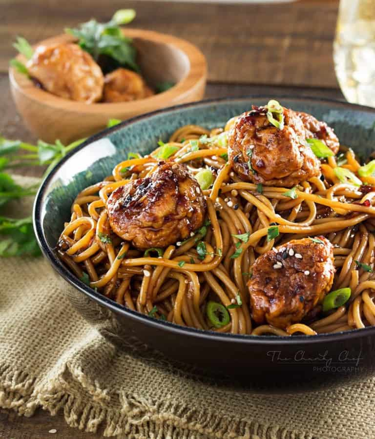 This version of Kung Pao Chcken has all the flavors you'd expect from the classic dish, but in a comforting, home style spaghetti and meatballs package!