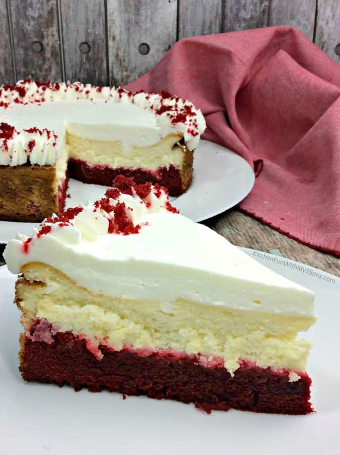 Red Velvet Cheesecake is one of the most delicious cheesecakes that you will ever make. The combination of red velvet cake and cheesecake is perfection!