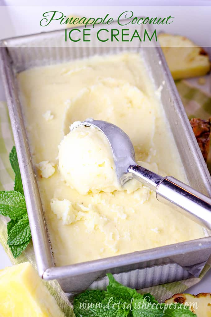 Coconut milk and fresh pineapple come together with a hint of lime in this creamy, cool dessert that is perfect for summer!